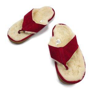 LL Bean Wicked Good Shearling Flip Flop Slippers